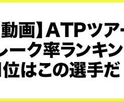 【動画】ATPツアー、ブレーク率ランキングを紹介!最もリターンゲームが強いのはこの選手!